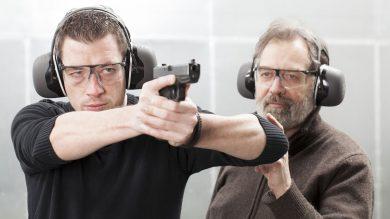 Schießübung mit Pistole