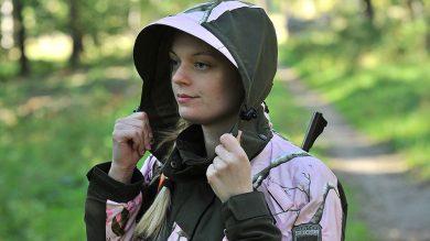 Pinewood Red Deer Damen Jagd Jacke Kapuze