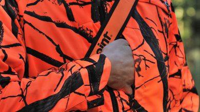 Univers Giacca Ohio Windstopper Orange Camo Jagdjacke – Napoleontasche